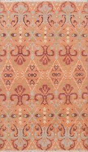 Modern Geometric Moroccan Oriental Area Rug Hand-Knotted Home Decor Carpet 5'x8'