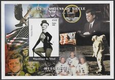 Chad 2000 Marilyn Monroe with Kennedy and Astronauts Souvenir Sheet - ow490