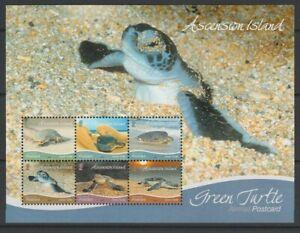 Ascension MINT 2015 Turtles sheet sg1220 MNH