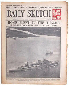 'Byrd's Lonely Vigil in Antarctic: First Pictures.' Daily Sketch for May 1935