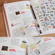 6 Sheet Pig Transparent Calendar Diary Book Sticker Scrapbook Decoration Lovely