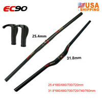 US EC90 Carbon Fiber 31.8/25.4*660-760mm MTB Handlebar Bike Part Superlight Bar