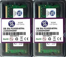 NEW 4GB (2x2GB) DDR2-667MHz PC2-5300 Laptop (SODIMM) Memory RAM 200-pin By XUM