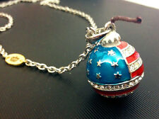New listing N738 Juicy American Flag National Statue of Liberty Rhinestone Bomb Necklace Us