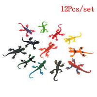 12Pcs/set small plastic lizard gecko reptiles gigures kids party bag fillers JCA
