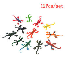 12Pcs/set small plastic lizard gecko reptiles gigures kids partybagfiller Rf