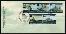 MARSHALL ISLANDS, SCOTT # 970, FDC COVER OF USA WARSHIPS OF WORLD WAR II, 2010