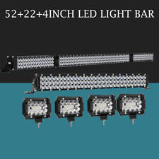 """54Inch 3150W LED Light Bar Combo + 22"""" +4"""" CUBE PODS OFFROAD SUV For Ford 52/20"""""""