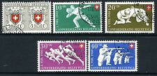 SWITZERLAND-1950 National Fete set Sg 522-6 VERY FINE USED V18139