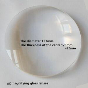 1PC 3X Desktop Magnifier Replace Lens 127mm Double Convex Magnifying Glass Lens