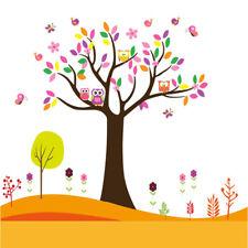 Vinilo infantil arbol,buho,flores,mariposas.Vinilos infantiles baratos.DOCLIICK