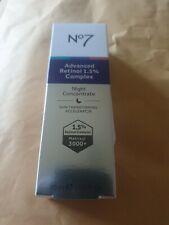 Boots No 7 Advanced Retinol 1.5% Complex,  Night Concentrate,  30ml, 10 Benefits