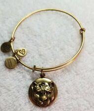 "ALEX AND ANI ""WILD HEART"" Gold  Charm Wrap Expandable Bangle Bracelet"
