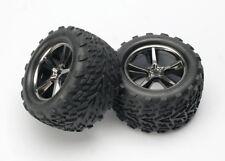 Traxxas [TRA] Gemini Black Chrome Wheels & Talon Tires (2) 5374A TRA5374A