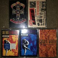 5 GUNS 'N ROSES CASSETTE TAPES APPETITE FOR DESTRUCTION USE YOUR ILLUSION LIES