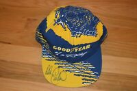 Dale Earnhardt SR Autographed Goodyear Snap-back Hat with James Spence COA