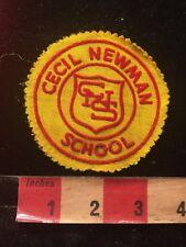Vintage CECIL NEWMAN SCHOOL QUEBEC Canada Patch 876