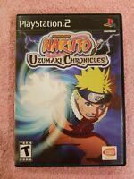 Naruto Uzumaki Chronicles Playstation 2 PS2 Video Game NO MANUAL TESTED FREE S/H