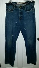 Ben Sherman distressed denim jeans vintage look. Size 33 x 34