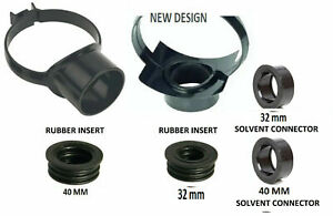 110mm Soil Pipe Strap on Boss Waste Pipe Black 40mm or 32mm Rubber or Glued D2