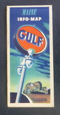 1949 Maine road map Gulf oil  gas