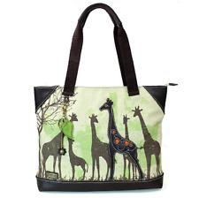 Charming Chala Safari Print Giraffe Tote Bag Handbag Purse