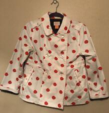 Eddie & Stine by Eddie Bauer Porcelain Polka Dot Galley Rain Coat - Size L Girls