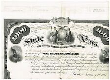 State of Texas, Austin 1867, 1000$ bond, nice