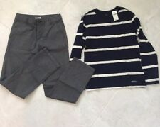 Crazy 8 Dress Pants Slim Grey And T-shirt Navy StripedFrom Gap Both Size 8  new