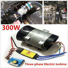 Car Turbo Kit Electric Turbo Supercharger Air Filter Intake Iron Fan Bold lines