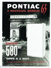 PUBLICITE ADVERTISING 106  1962  le réfrigérateur Pontiac  Arc de Triomphe