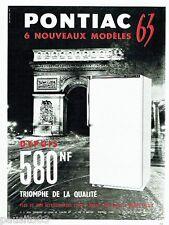 PUBLICITE ADVERTISING 106  1962  le réfrigérateur Pontiac  Arc de Triomphe