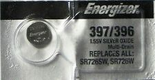 Energizer 397/396 Sr726Sw Sr726W Watch Battery New Sealed Authorize Seller