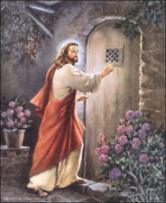 Jesus Knocking at the Door 3D Paper Tole Craft Kit Size size 16x20 K16-8087