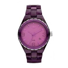 "Original adidas reloj adh2555 Analogico Wrist Watch ""Cambridge"" 43mm nylon, wr5"