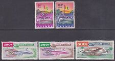 Guinea 201-02 & C24-26 MNH 1960 17th Olympic Games Rome Overprinted Set Cv $92.