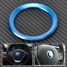 Blue Steering Wheel Center Ring Cover Ring For BMW 1 3 4 5 7 Series X1 X3 X5 X6