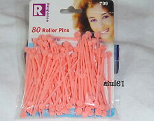 80 Thin Plastic Colours Hair Roller Pins for Rollers Styling Curling Tools