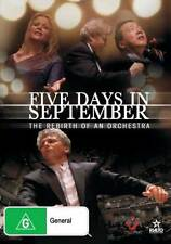 Five Days in September: The Rebirth of an Orchestra NEW DVD Yo Yo Ma (Region 4)