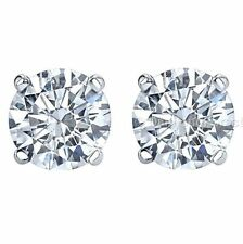 2.00 carat weight white moissanite stud earrings 14k white gold lowest price