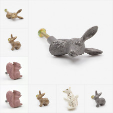 Rabbits, Hares & Squirrels Animal Shaped Knob, Pull, Handle, for Cupboards, Door