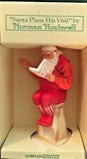 "Gorham 3 1/2"" Norman Rockwell Santa Plans His Visit Figurine"