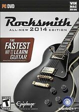 Rocksmith 2014 PC DVDs - Windows & Mac (2) Discs, NO CABLE, FREE SHIP