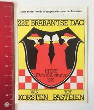 Aufkleber/Sticker: 22E Brabantse Dag 1979 - Van Korsten Tot Pasteien (100616174)