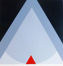 FRIEDRICH GEILER Geometric Composition 1991 HAND SIGNED SERIGRAPH German Artist
