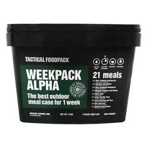 Tactical Foodpack Weekly Set Of Freeze-Dried Meals Alpha Weekpack Camping