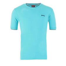 Slazenger Camiseta Algodón Tipped básica hombre S M L Xl Xxl 3xl 4xl NUEVO