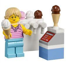 LEGO Ice cream seller minifigure NEW + collector card city RARE set 45022