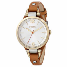 Fossil Women's Georgia ES3565 Brown Leather Quartz Watch