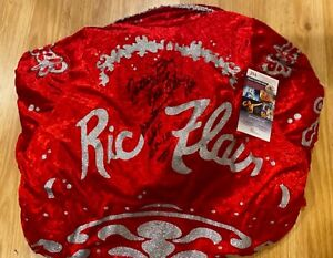 NEW RIC FLAIR Signed Autographed ROBE HOF WRESTLING NATURE BOY PHOTO PROOF JSA
